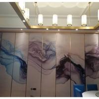 深圳黄冈餐厅画饰面隔断推拉屏风墙折叠推拉门厂家