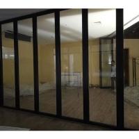 深圳田寮会议室活动玻璃隔断吊折滑轮推拉门生产厂家