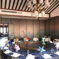 惠州博羅飯店滑軌折疊隔斷移動隔音墻廠家直銷