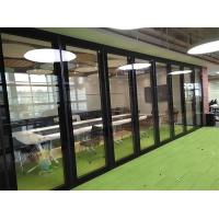深圳宝安会议室玻璃推拉隔断悬挂移动屏风门定做设计