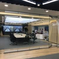 供应优质玻璃自动折叠门/安徽合肥