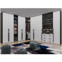 克诺斯邦现代简约L型衣柜 衣帽间设计定制全屋家具定做