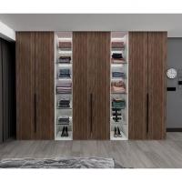 整體衣柜定制現代簡約意式輕奢臥室開門衣柜定做克諾斯邦/柏木