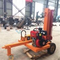 液压缸推进大型劈柴机农林专用树墩劈柴机
