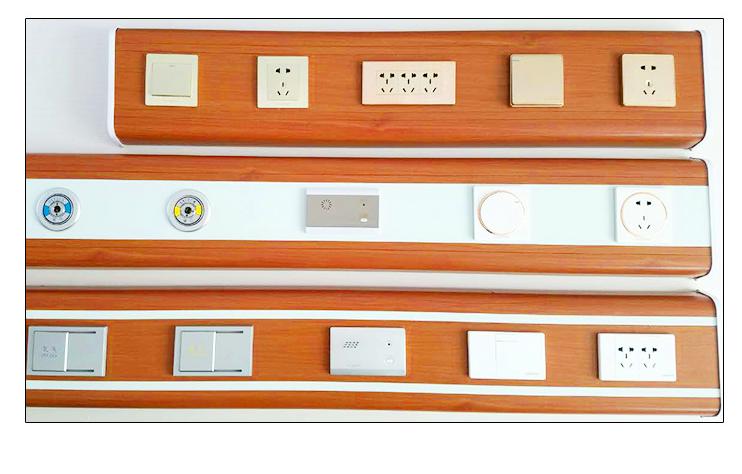 成都医用设备带 医院病房设备带 中心供氧设备带木纹色
