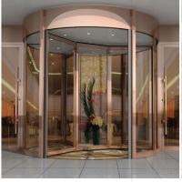大厦自动感应酒店办公大楼钢化玻璃旋转门