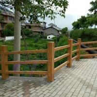 仿木护栏3D