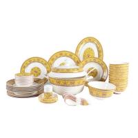 景德镇碗碟盘套装家用欧式骨瓷碗筷陶瓷器吃饭套碗盘子