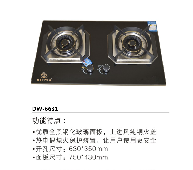 帝王灶具DW-6631