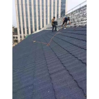 彩石金屬瓦輕鋼別墅瓦屋面翻新改造鍍鋁鋅瓦0.4厚
