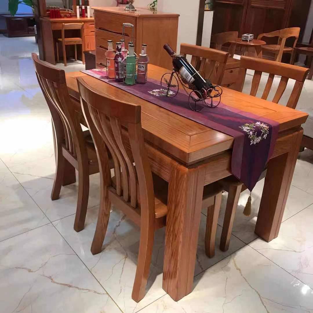 红橡餐桌椅