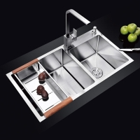 手工水槽 NU549H不锈钢厨房双槽洗碗水槽