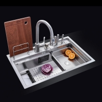 NU356 手工水槽诺帝玛多功能厨房洗碗槽带盆中盆