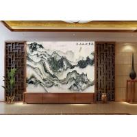 客厅石材大理石背景墙 自建别墅背景天然石画 山水画石材