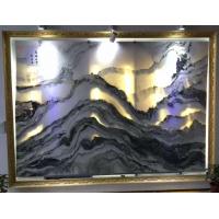 山水纹大花白 山水画大理石 天然水墨画大理石客厅背景墙