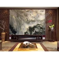 石材客厅背景墙天然山水画背景 水墨山水画 天然山水画沙发背景