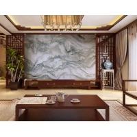 中式天然山水画大理石天然山水纹石材别墅大堂园林照壁背景