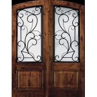 亚格进口门窗--铁艺玻璃钢进户门