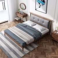 幸福王朝新中式北欧实木现代简约卧室民宿风格白蜡木