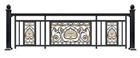 现代豪华铝艺阳台栏杆居家铝合金阳台美观护栏杆批发