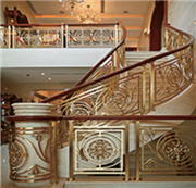 現代室內精裝護欄樓梯扶手鋁鎂合金樓梯立柱酒店護欄專業定制