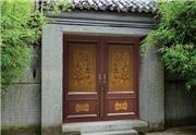仿古木門庭院中式大門實木農村別墅大門對開門定做老式門家用進戶