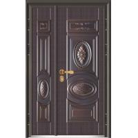 富贵世家J315A-十公分甲级精雕装甲门-仿铜+木板