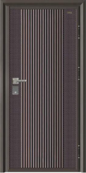 气宇轩昂J312A-10公分ぷ甲级精钢装甲门-仿铜+木板