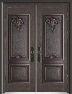 10公分/玉佩奇纹(JD13)双开门#甲级-铸铝拼接