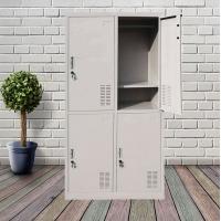 员工更衣柜带锁铁皮储物柜学生宿舍鞋柜家用小格收纳柜物品存放柜