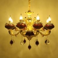 尖扁罩花灯 古典灯饰 美式大吊灯