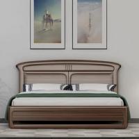 白蜡木双人床
