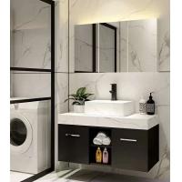 定制巖板大理石浴室柜簡歐酒店風智能鏡洗臉盆