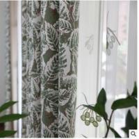 提花高精密美式叶子窗帘客厅卧室飘窗高遮光以及成品窗帘