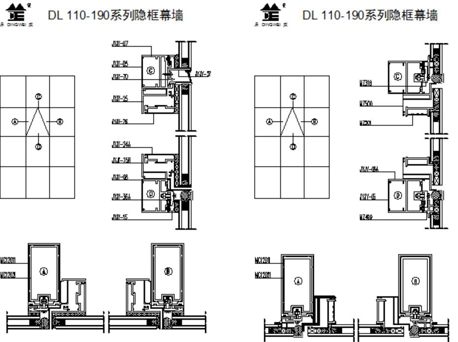 DL110-190系列隐框幕墙