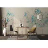 JCC天洋免胶水 山抹微翠新中式水墨山水国画客厅背景墙