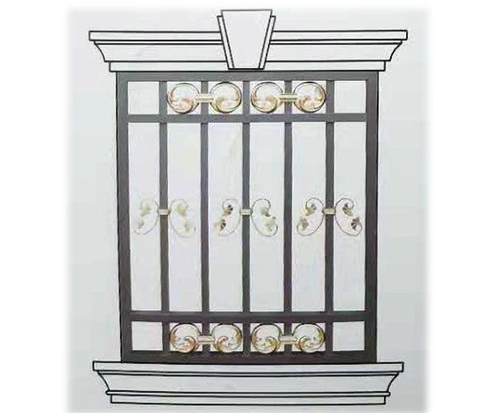 南京联润铁艺不锈钢装饰-铝艺窗系列