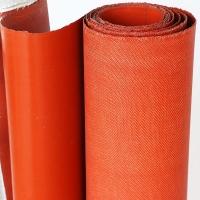 风管软接挡烟垂壁玻璃纤维硅胶布 单双面电焊挡火花硅胶布