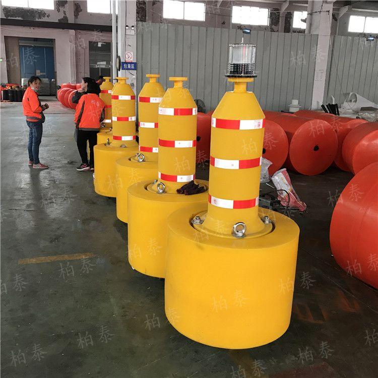 安徽航道用灯浮标 锥形罐形塑料航标 海洋聚乙烯浮标