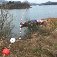 洛阳水库警示拦船浮筒 湖面球体警示标志
