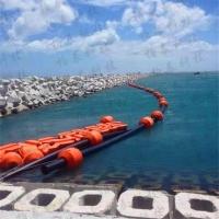 天津海洋聚乙烯管道浮筒 PE夹管子浮筒
