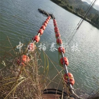 水库清淤管线浮筒 水面管道橘红色浮体型号报价