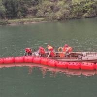 河道拉垃圾的拦河索浮筒,水电站拦污漂JIAGE