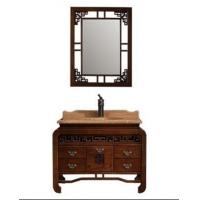 中式浴室柜,大理石洗手盆
