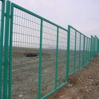 廠區鐵藝圍欄 1.8米綠色橋梁框架鐵絲網護欄 養殖場圍欄網