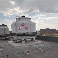 荆门电池厂配套圆形逆流防腐冷却水塔 热浸镀锌框架