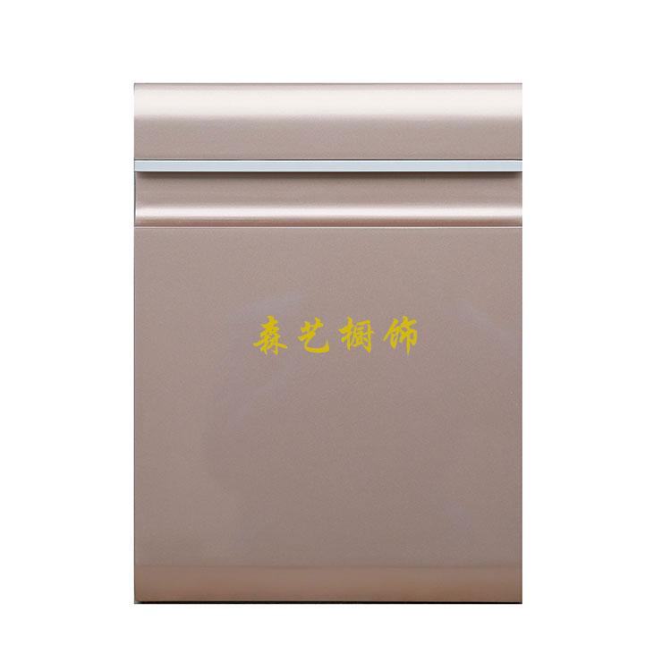 烤漆门板-嵌入条形拉手-南京森艺橱饰