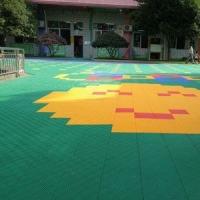 厂家篮球场塑胶地板|篮球场地板|篮球场悬浮地板| 幼儿园户外