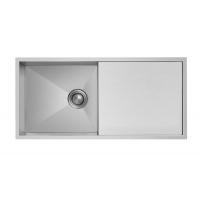 不锈钢水槽直角单槽带板