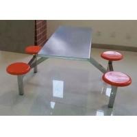 河南學校員工食堂餐桌椅 南陽連體小吃店餐桌椅